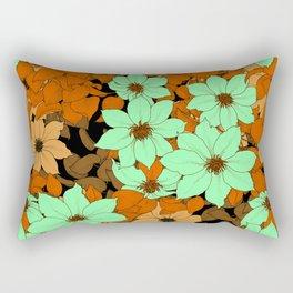 Vintage Flower Garden Rectangular Pillow