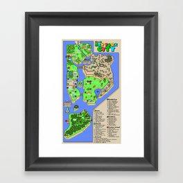 Super Mario NYC Framed Art Print