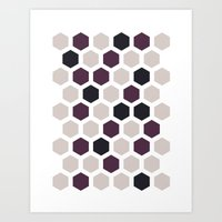 honeycomb Art Prints featuring Honeycomb by LONEWLF