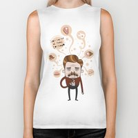 ron swanson Biker Tanks featuring Ron Swanson by Cody Bond