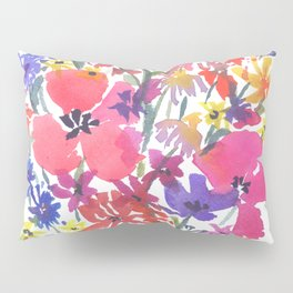 Little Pink Poppies Pillow Sham