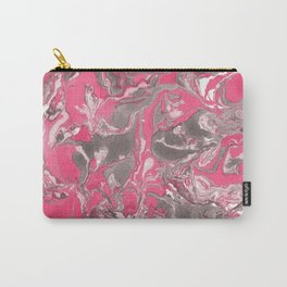Pink and gray Marble texture acrylic paint art Carry-All Pouch