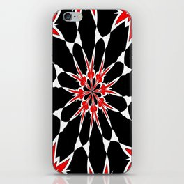 Bizarre Red Black and White Pattern 3 iPhone Skin