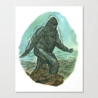 sasquatch Canvas Prints featuring Sasquatch by Samantha Bryanne