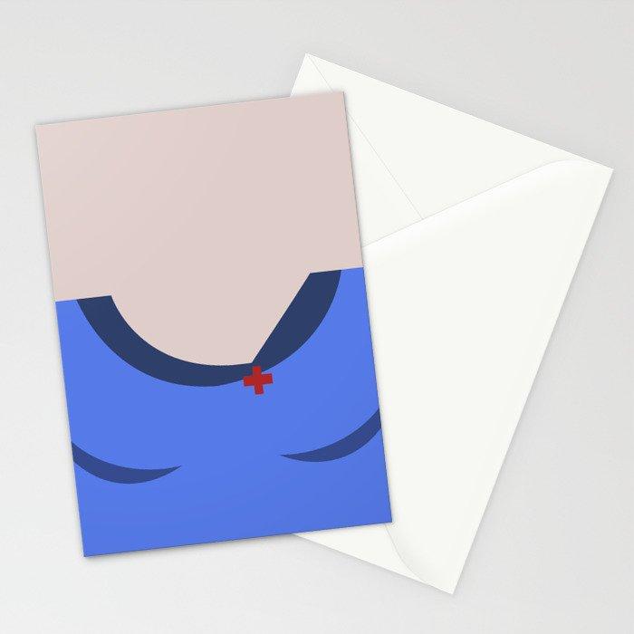 Nurse Christine Chapel Minimalist Star Trek The Original Series Trektangles startrek USS Enterprise Stationery Cards