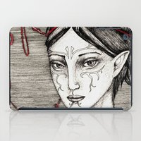 dragon ball iPad Cases featuring Merrill: ball of twine  by Anca Chelaru