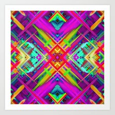 Colorful digital art splashing G475 Art Print