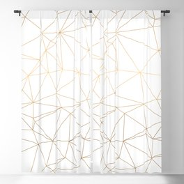 Geometric Gold Minimalist Design Blackout Curtain