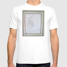 Demon by a 6 year old White Mens Fitted Tee MEDIUM