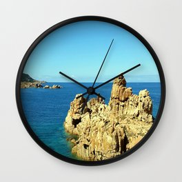 Cliffs on the Costa Paradiso Wall Clock