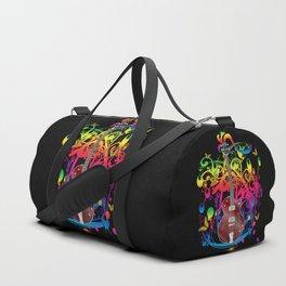 Bass Guitar Color splash Duffle Bag