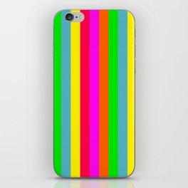 Neon Hawaiian Rainbow Cabana Stripes iPhone Skin