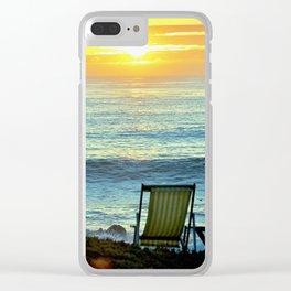 Modern Cambria CA Sunset Clear iPhone Case