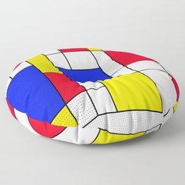 Mondrian in 3-D Floor Pillow