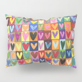Many hearts and colours Pillow Sham