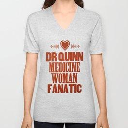 Dr Quinn Medicine Woman Letterpress Poster - Fanatic Unisex V-Neck