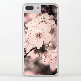 Sweet Spring (White Cherry Blossom) Clear iPhone Case