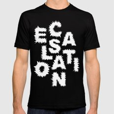 Escalation Black MEDIUM Mens Fitted Tee