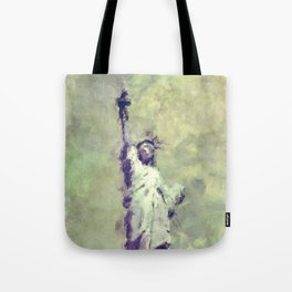 Textured Statue of Liberty Tote Bag