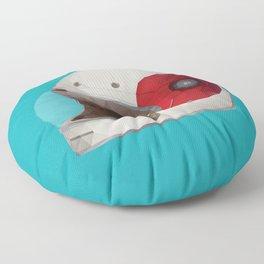 Bell Bullitt Cafe Racer Helmet Polygon Art Floor Pillow
