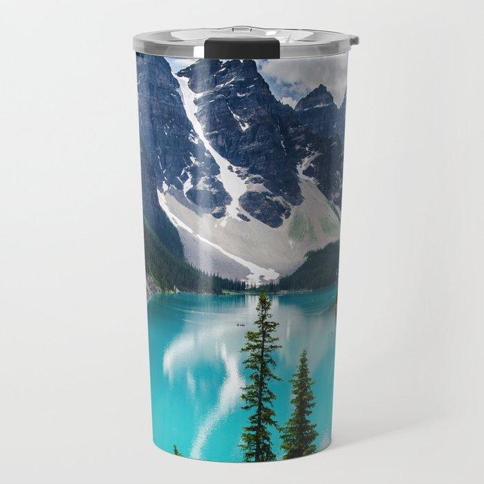 Lake Moraine Banff Travel Mug