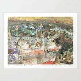 Kida Kinjiro - Fishing Boats (1960) Art Print
