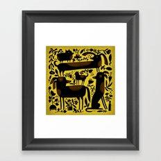 GARDEN DOGS Framed Art Print