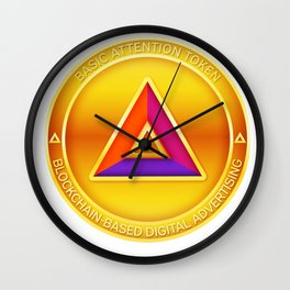 Basic Attention Token BAT Cryptocurrency Design Wall Clock