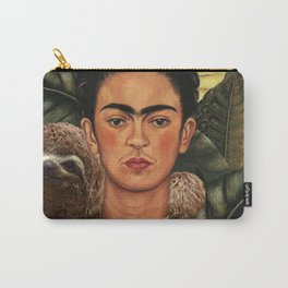 Frida Kahlo Self Portrait with a Sloth Carry-All Pouch