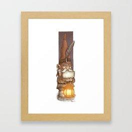 Lantern Gnome Framed Art Print