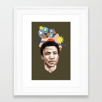 caleb troy Framed Art Prints featuring Troy by mycolour