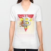 spain V-neck T-shirts featuring bitcoin spain by seb mcnulty