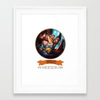 league of legends Framed Art Prints featuring League Of Legends - Braum by TheDrawingDuo