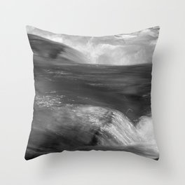 Never stop flowing.... Mountain river Throw Pillow