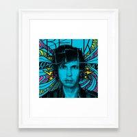 cassia beck Framed Art Prints featuring Beck Hell Yes by Matt Cave