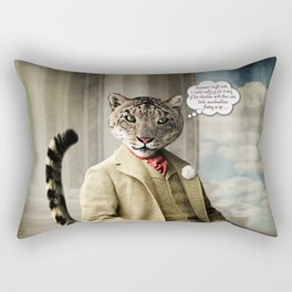 Sir Sebastian Snow Leopard Rectangular Pillow