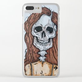 Becky skull Clear iPhone Case
