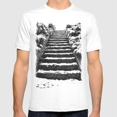 Winter stairway White SMALL Mens Fitted Tee