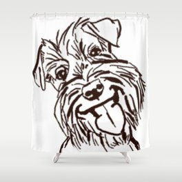 The happy Schnauzer dog love of my life! Shower Curtain