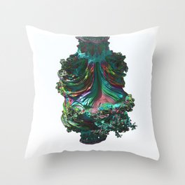 Abstract Fractals Number 35. Throw Pillow