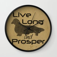 Live Long - Longhair, Long hair, Dachshund Love Wall Clock