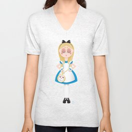 Mini Me Stars: Alice in Wonderland Unisex V-Neck