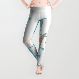 Wild and Free Turquoise Rose Gold Leggings