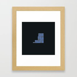Be strong for yourself Framed Art Print