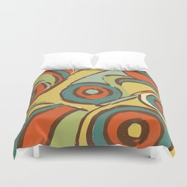 retro 1 Duvet Cover