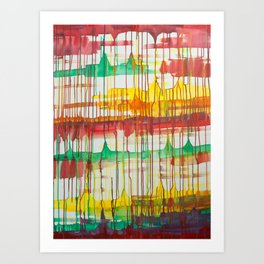 Loose Leaf - Abstract Acrylic painting  Art Print