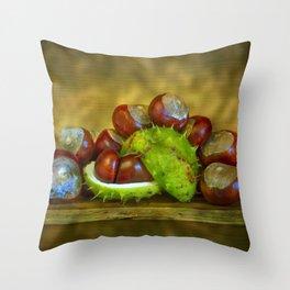 Conker Season Throw Pillow