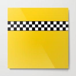 NY Taxi Cab Cosplay Metal Print