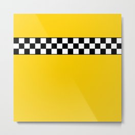 NY Taxi Cab Cosplay Metal Print