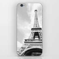 eiffel iPhone & iPod Skins featuring Eiffel by Fallon Chase